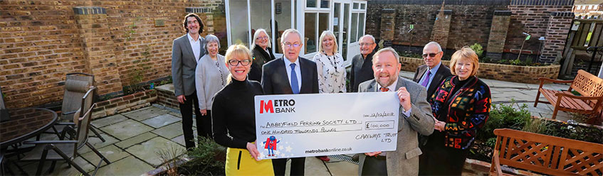 Trust's £100,000 boost for our Abbeyfield Ferring society